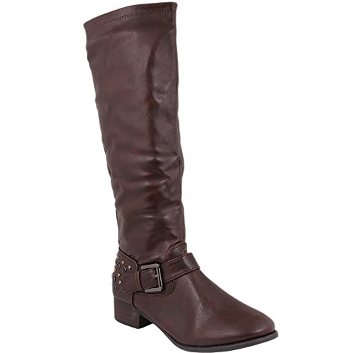 Unbekannt - Botas de Material Sintético para mujer Marrón - marrón