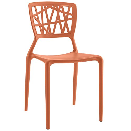 Modway Astro Dining Side Chair in Orange