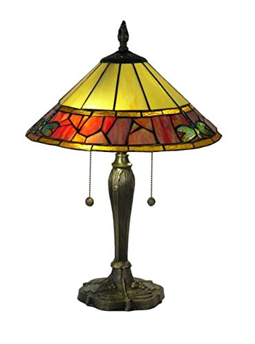 Dale Tiffany Brass Antique Floor Lamp - Springdale by Dale Tiffany STT17141 Genoa Tiffany Table Lamp