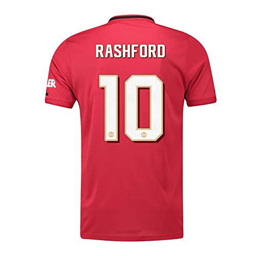 Manchester United FC Official Soccer Gift Mens Rashford 10 Home Kit Shirt 3XL