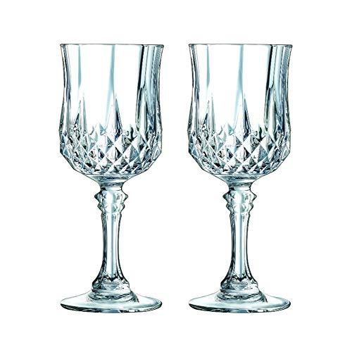 (Luminarc Arc International Longchamp Diamax Wine Glasses (Set of 4), 5.5 oz, Clear)
