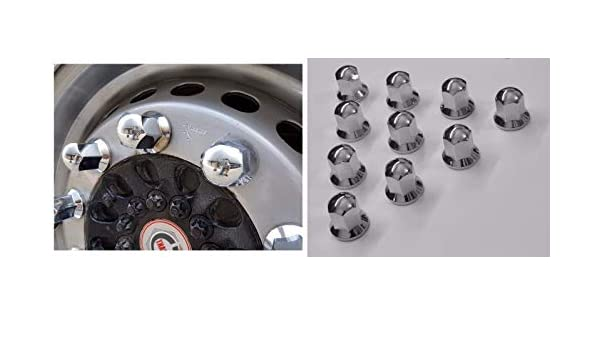 24/7Auto 30 Piezas 32 mm Tapas de Pernos de Tuerca Cubierta de plástico Cromado Rueda camión Remolque: Amazon.es: Coche y moto