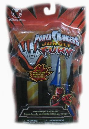 Power Rangers Jungle Fury Red Ranger Battler Set (Power Rangers Jungle Fury Red Ranger Toy)