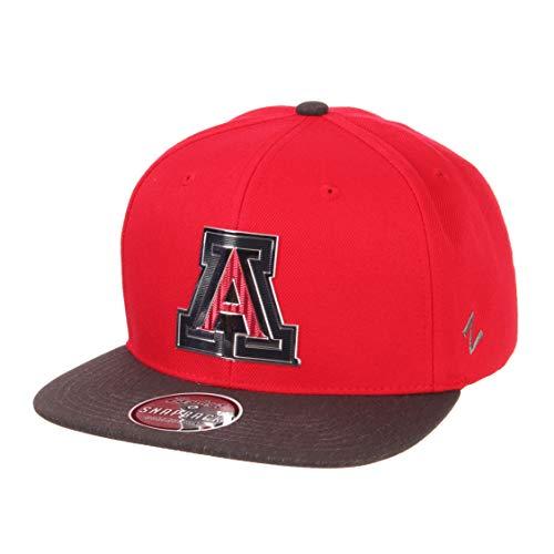 Ncaa Team Logo Hat - Zephyr NCAA Arizona Wildcats Mens Imprintimprint Platinum Logo Snapback Hat, Team Color/Dark Gray, Adjustable