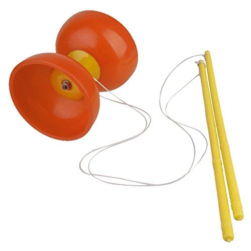 SONONIA伝統的 ディアボロ 大道芸 中国コマ 独楽 文字列 ジャグリング 玩具 初心者 選べる5色 - オレンジ