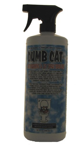 Dumb Cat Anti-Marking and Cat Spray Remover Feline Retraining Aid Sprayer, 32-Ounce