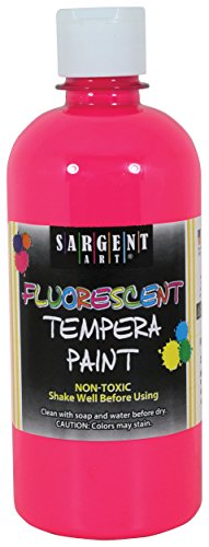 - Sargent Art 17-5729 16 oz Pink Fluorescent Tempera Paint