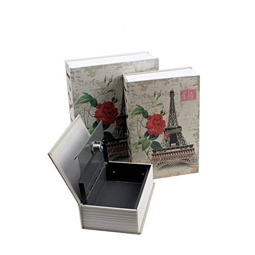 Dictionary Secret Book Hidden Safe With Key Lock Book Safe S/M/L Size for choice Eiffel Tower (M)