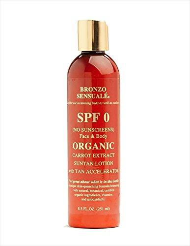 Bronzo's SPF 0 Cert. Organic Carrot Lotion 8.5 oz.