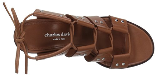 Birch Cognac Charles Women's Sandal Gladiator David 0gEgf