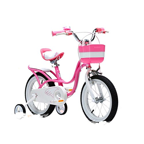 Bikes Children's Bicycles 3-9 Years Old Little Girl Baby Princess Student Bicycle (Color : Pink, Size : 12 inches) ()