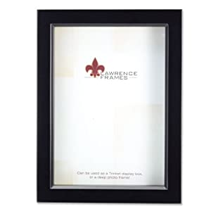 lawrence frames 795080 black wood treasure box shadow box picture frame 8 by 10 inch