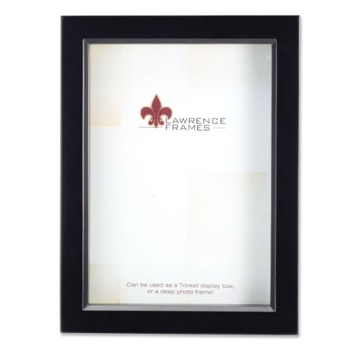 Lawrence Frames 795057 Black Wood Treasure Box Shadow Box Picture Frame, 5 by - Box Frame 7x7 Shadow