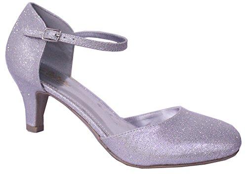 Chic Con Donna Feet Silver Sandali Zeppa UZqwvUrnSE