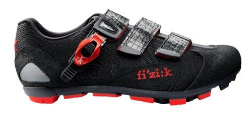 Fizik Zapatillas de M5Uomo para bicicleta de montaña para hombre Negro/Rojo