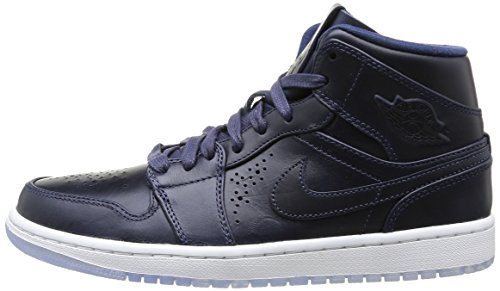 Nike Air Jordan 1 Mid Nouveau Men Midnight Navy White 629151-401 ... fc9823848
