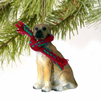 Great Dane Miniature Dog Ornament - Uncropped Ears - Fawn ()