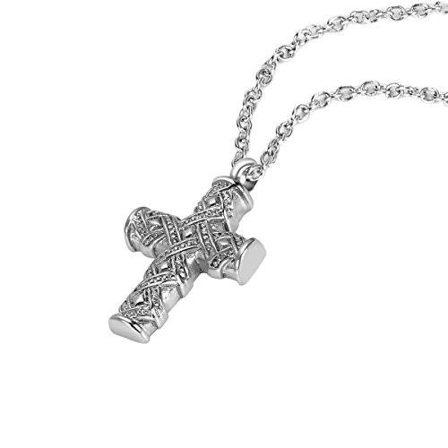 ZARABE Cremation Jewelry Jesus Cross Pray Charm waterproo...