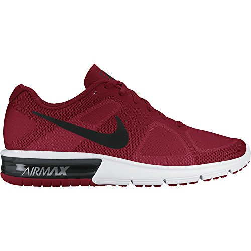 Men's Nike Air Max Sequent Running Shoe Gym Red/White/Black/Hematite Size 11 M US (Red Nikes Air Shoes For Men)