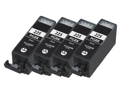 HI-VISION® 4 Pack Compatible Canon PGI-225 PGI 225 Large Black Ink Cartridge Replacement for PIXMA iP4820,iX6520,MG5320,MG5120,MG6120 Wireless,MG8120,MX892,MG6220