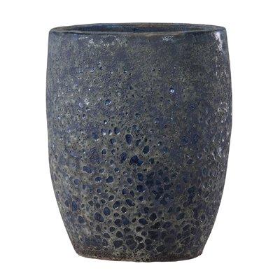 ボルカーノ トールラウンド 35 cm/テラコッタ/植木 鉢 プランター 【 ブルー 】 B01N181HUN ブルー ブルー