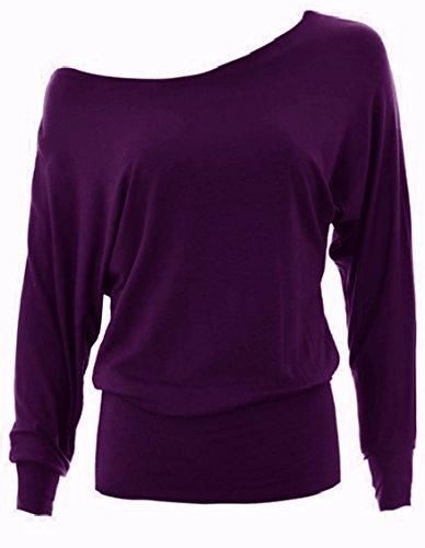 asfashion online - Camiseta de manga larga - para mujer Púrpura