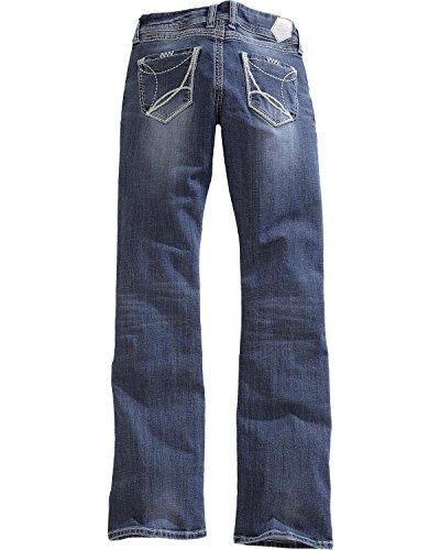 - Tin Haul Women's Dolly Celebrity White Wave Stitch Bootcut Jeans Denim 26 R