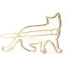 M-Egal 3pcs Rabbit Fox Girls Hairpin Barrette Cartoon Animal Hair Clip Hair Accessories rose golden cat