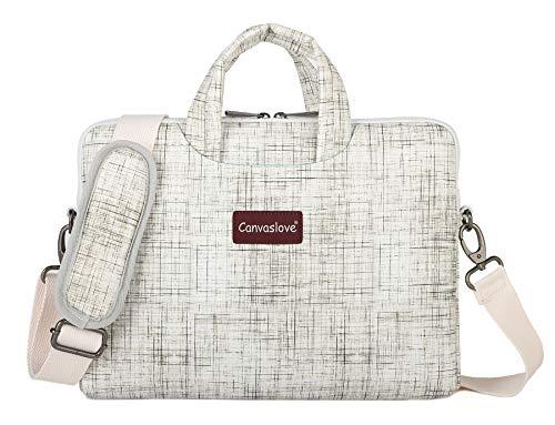 Canvaslove Lightweight Waterproof Laptop Shoulder Bag (14 inch-15.6 inch, Wood Grain)