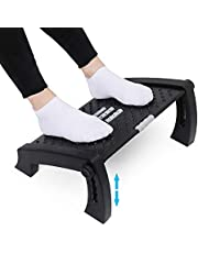 APVTI Foot Rest for Under Desk, Foot Stool -6 Height Adjustable with Massage Surface and Roller for Home Office, All Ages, Exquisite Gift