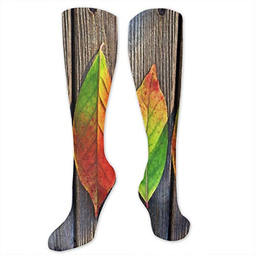 Used, Compression Socks Autumn Colorful Leaf Wood Womens for sale  Delivered anywhere in USA