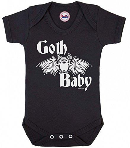 Funny Boys Girls Babygrow 'Goth Baby' Novelty Vest Baby Clothes