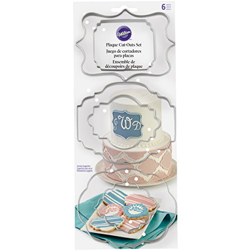 (Wilton 417-7555 6 Piece Plaque Fondant Cut-Outs Set)