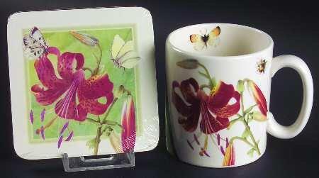 (Spode Floral Haven Mug and Coaster)