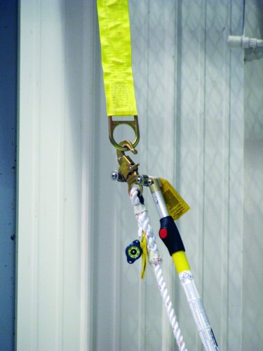 3M DBI SALA First-Man-Up 2104528 Remote Anchor System, 8' to 16' adjustable pole, Tie-Off Adaptor and Snap Hook Installation/Removal Tool, 3' Tie-Off Adaptor, Carrying Bag, Navy/Yellow by 3M Fall Protection Business (Image #1)