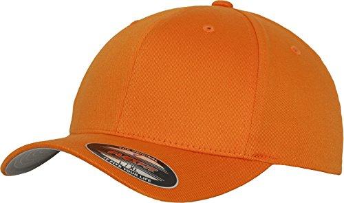 Edge Flex Hat - Adult Flexfit Wooly Combed Cap, Unisex, Mütze Flexfit Wooly Combed, Orange, L/XL