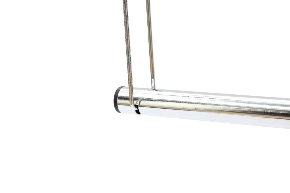 Double Hanging Closet Rod Organizer with Adjustable Horizontal Rod STORAGE MANIAC 2-Pack Adjustable Hanging Closet Rod Chrome