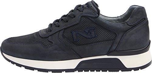Nero Giardini Uomo Sneakers in Pelle Grigio (Cemento) o Blu P800235U Scarpe in Pelle Primavera Estate 2018 blu