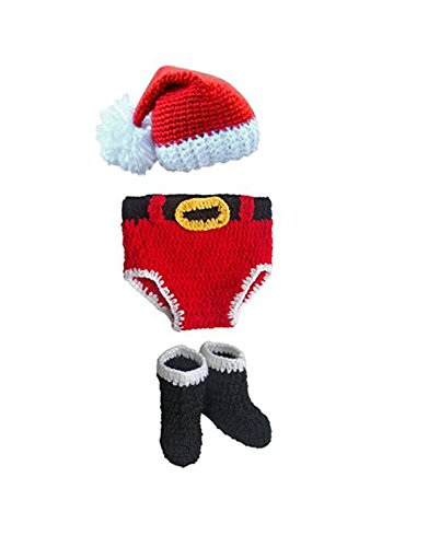 Jastore® Infant Newborn Costume Photography Prop Santa Claus Knitted Outfit