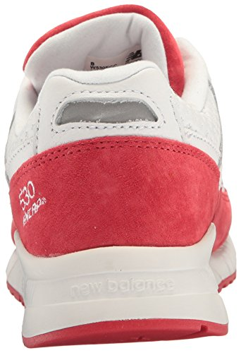 New Balance Womens 530 90s Running Lifestyle Mode Sneaker Wit / Alpha Rood