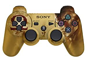 Sony Dualshock Controller God of War PS3 - Volante/mando (gamepad, inalámbrico, bluetooth), color dorado