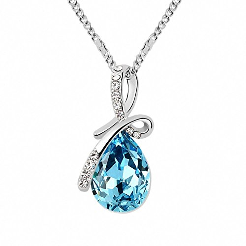 (Changeable Women Necklaces Crystals Made with Swarovski Element (Little Teardrop of Angel)