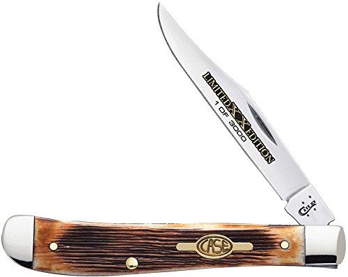 Case Limited XX Edition Series Brown Bone Slimline Trapper Pocket Knife