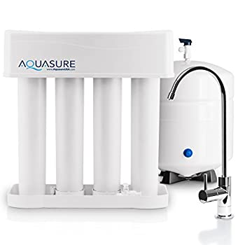 Image of Under-Sink & Countertop Filtration Aquasure Premier Advanced Alkaline Reverse Osmosis Drinking Water Filtration System with Quick Twist Lock - 75 GPD
