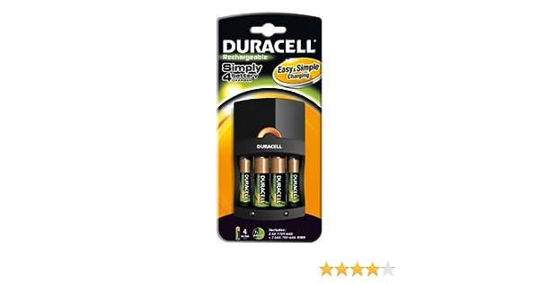 Duracell - Cargador (Cef 14 + 2Xaa + 2Xaaa, Cef14 / Aa, 4 Piezas)
