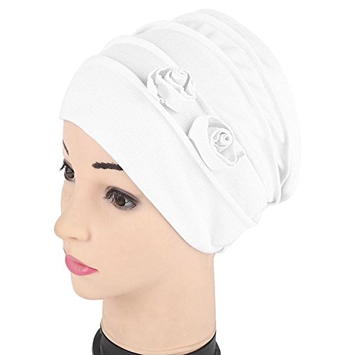 b1a30fcd110 Kingko® Women s Muslim Flower Shape Stretch Turban Hat Chemo India Cap Hair  Loss Head Wrap Hijib Cap. by Kingko. Colour