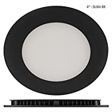 """Liteline SLIM LED Recessed 4"""" Pot Light - 2700K, 4000K, 9W, Dimmable - 1/2"""" Thick, #1 for Electricians (Warm White)"""