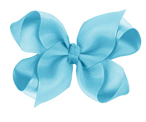 (CoverYourHair Hair Bows - Bows for Girls - Grosgrain Bow - Cheer Bows - Alligator Clip Bows (Blue Turquoise))