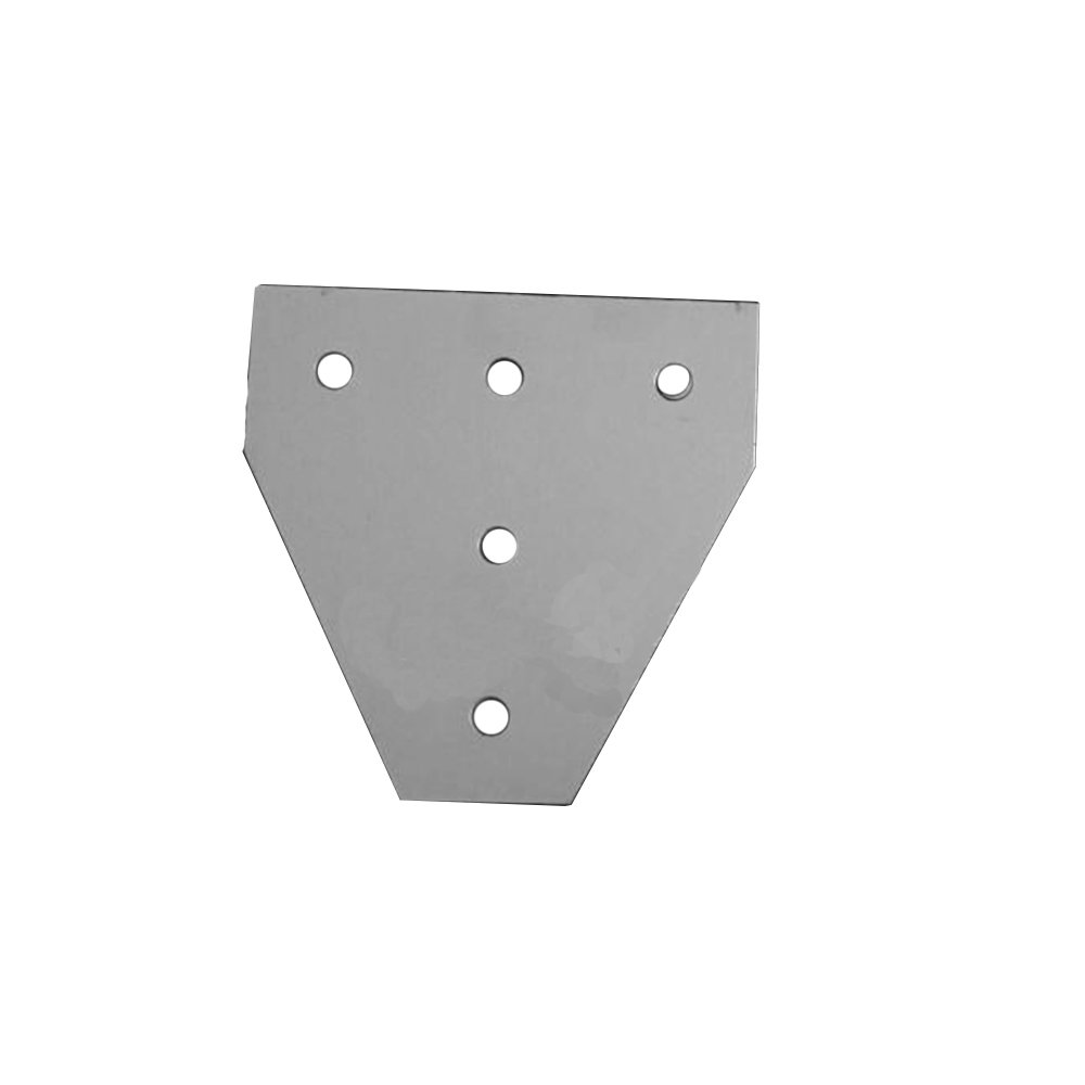 Gimax Aluminium Material Joint Board Plate Corner Angle Bracket Connection Joint Strip for Aluminum Profile 20/30/40/45 with 5 Holes - (Color: 4545T-5hole)