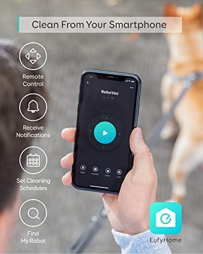 eufy by Anker [BoostIQ] RoboVac 15C Max - Robot aspirateur avec Wi-FI, Application Android/iOS, Amazon Alexa, Puissance de 2000Pa, Filtre Lavable, Ultra-Fin et Silencieux pour sols durs et moquettes - Home Robots